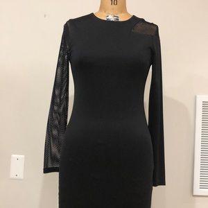 Alice and Olivia black asymmetrical dress
